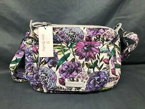 Vera Bradley Carson Mini Shoulder Bag Lavender Meadow NEW WITH TAGS!