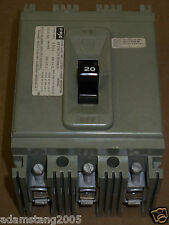 Federal Pacific HEG 3 pole 20 amp 600v HEG631020 Circuit Breaker FPE