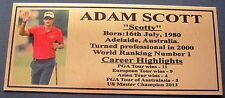 ADAM SCOTT Australian Golf Legend Plaque free post*****