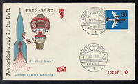 A 21 ) Berlin 1962 beautiful FDC  - 50 Years of Air Mail Transport