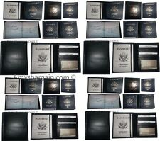 24 New USA Leather passport case wallet credit ATM card case ID holder Brand New