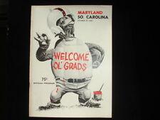 October 29, 1966 Maryland vs. South Carolina Football Program EX+