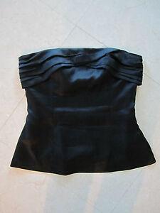 Arden B Black Silk Sleeveless Shirt Size Small