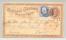 United States 1874, card to Germany from San Francisco