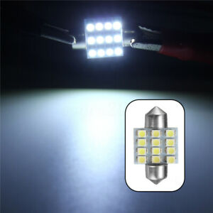 13Pcs 31mm Map Dome License Plate Light For T10 LED Interior Package Kit White