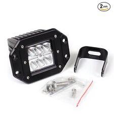 "3"" 12V 24V 6500K CREE 12W Waterproof LED Lamp Round Offroad Car Boat Work Lights"