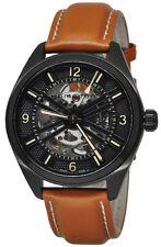 Hamilton Khaki Field Skeleton Automatic Brown Leather Men Watch H72585535 New