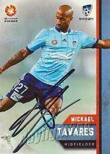 ✺Signed✺ 2015 2016 SYDNEY FC A-League Card MICKAEL TAVARES