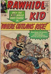 Rawhide Kid #43 1964 VG 4.0 Marvel Pin-up Lee, Jack Kirby Silver Age Comics Book