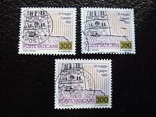 VATICAN - timbre yvert et tellier n° 721 x3 obl (A28) stamp (Z)