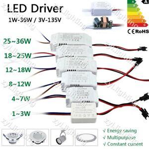 LED driver alimentatore trasformatore Power Supply 300mA 12V 24V 36V 5V 10W 30W