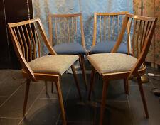 Ein Set 4 Stück 60er Mid-century Vintage Esszimmer Stühle