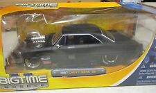 JADA  BIGTIME MUSCLE *VHTF* FLAT BLACK BLOWN 1967 CHEVY NOVA SS 1:24 '67 CHEVY