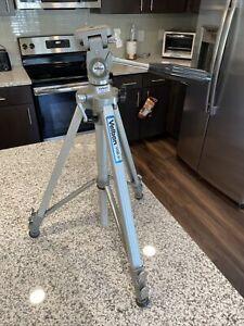 "Vintage Velbon LEB-3C Camera Tripod Aluminum Telescoping Adjustable 21""-67"""
