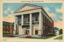 Linen Postcard; Historic Thespian Hall, Lyric Theatre, Boonville MO Cooper Co.