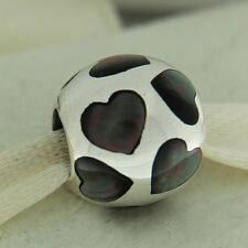 Authentic Pandora 790398MPB Love Me Black Mother of Pearl Mother's Bead Charm