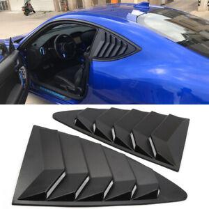For Toyota 86/Subaru BRZ 2012-2018 Matt Black Side Window Louver Vent Cover Trim
