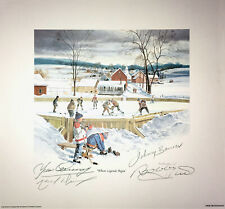 Signed Bower, Hull, Cournoyer, Dionne Litho - Toronto, Chicago, Montreal, LA
