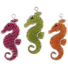 BEADWORX - SEA HORSE KEYRING - BEAD WORK GRASS ROOTS GLASS BEADS