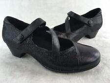 Aravon Portia Black LTHR Mary Jane Pump Size 10B  D1550/