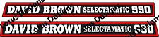 David brown 990 selectamatic tractor  stickers / decals