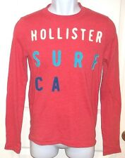 Mens HOLLISTER~ORANGE Logo T-SHIRT~NEW~size SMALL~Top Shirt~GRAPHIC Surf TEE