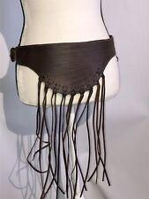 Motif 56 Genuine Leather Belt Brown Striped Size L