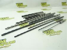 """New listing Lot Of 11 Extra Length Hss 1Mt Drills 7/64"""" To 1/2"""" Dia National Cle-Forge Ny"""