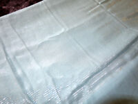 Vintage Linens Turquoise Square Tablecloth 49x49 Silver Details - Reduced!