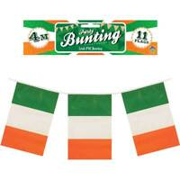 Irish 12ft Flag Bunting 11 EIRE Ireland Flags St Patrick's Day Banner