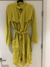 Zara Woman lightweight Flowing Mustard Spring/Summer trench coat size Medium