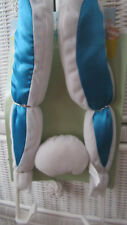 Cute Bunny Floppy Car Ears Rabit White & Blue Easter its so fluffy