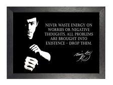Bruce Lee La Negatividad Hong Kong American actor De Cine Artes Marciales cotización Cartel
