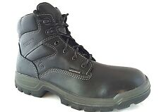 Wolverine W08141 Men's Stratus Black Leather Soft Toe Work Boots SZ 11 EW