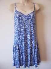 Lucky Brand Blue Floral Rayon Knit Chemise Racerback Size Small