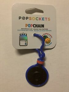 PopSockets PopChain Backpack Clip Holds Two Pop tops