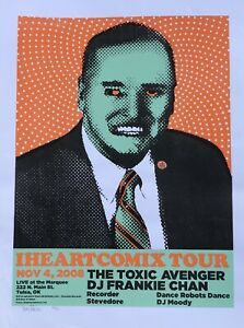 "IHeartComix poster - Denny Schmickle - 18x24"" Hand Screened(not a reprint)"
