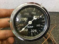 """Vintage 2 5/8"""" Stewart Warner Crescent Pointer Curved Glass Water Temp Gauge"""