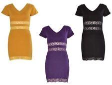 Cotton V Neck Cap Sleeve Stretch, Bodycon Dresses for Women