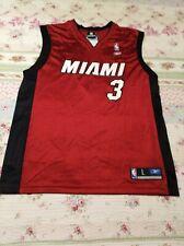 Dwayne Wade #3 NBA Miami Heat Reebok Authentic Classic Mens Sz L Red Jersey NWT