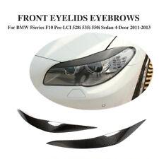 Carbon Scheinwerfer Blenden Set für BMW 5er F10 F11 Augenlid Eyelid Böser Blick