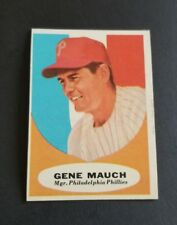 ORIGINAL1961 TOPPS PHILADELPHIA PHILLIES BASEBALL CARD #219 GENE MAUCH NR.MT