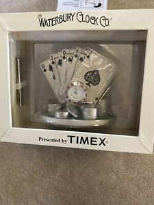 Waterbury Clock Company Timex Poker Hand Desk Clock  Royal Flush Hand