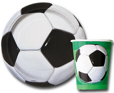 Set of Plates(8) Cups(8) Football Boys Birthday Party Tableware