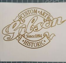 stickers autocollant gibson custom art hisctoric Guitard