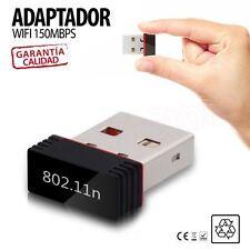 Mini antena WIFI USB adaptador Wireless 150 Mbps Nano LAN WI-FI Gran Potencia PA