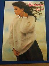 Sunbeam Women's Lacy Fashion Sweater Knitting Pattern 1216
