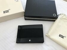 MONTBLANC 109612 Canvas And Leather WALLET 3 WITH MONEY CLIP