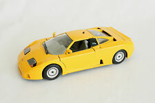Rare Yellow Bburago 1991 Bugatti Model Sports Car 1:24 Diecast