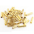 20 Pairs 2mm Gold-Plated Bullet Connectors (20) Male (20) Female